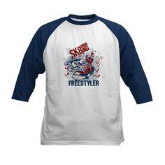 Sk8 Freestyle Youth Baseball Jersey T-Shirt