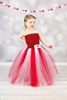 Newborn Size 12 Valentine Tutu Dress by krystalhylton on Etsy