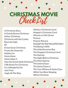 The Complete Family Christmas Movie List - So Festive! Family Christmas Movie Checklist Printable- Christmas Movie ideas for kids Present Christmas, Mickey Christmas, Christmas Mood, A Christmas Story, Christmas Countdown, Christmas Ideas, Christmas Movie Night, Merry Little Christmas, Christmas Trends 2018