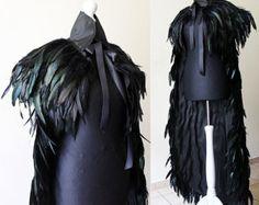 Feather cloak with pelerine