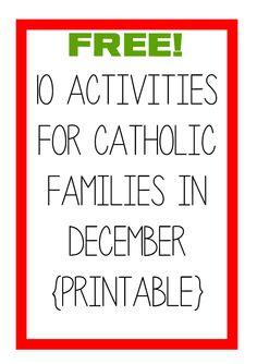 10 Activities for December!