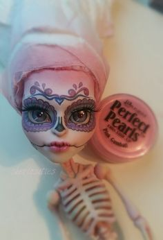 Monster high custom repaint by skeriosities ooak skelita