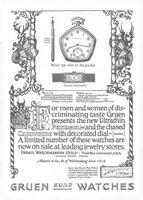 Gruen Ultrathin Pentagon 1922 Ad Picture