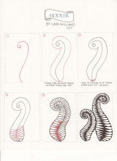 fiddler tangle pattern - Google Search