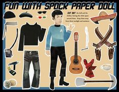 A Collection of Incredibly Bizarre Pop-Culture Paper Dolls - Flavorwire  Spock via Etsy