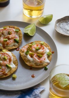 Shrimp Tostada – quick, easy and delicious dinner idea. (Perfect to go with beer and/or tequila!)