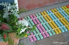 DIY Wood Doormat | Hometalk