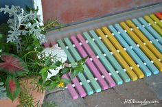 DIY Wood Doormat | Hometalk