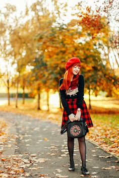 A Clothes Horse: Outfit: Mad for Plaid Zooey Deschanel, Quirky Fashion, Vintage Fashion, Hipster, Clothes Horse, Retro Pin Up, Fall Looks, Fashion Outfits, Womens Fashion