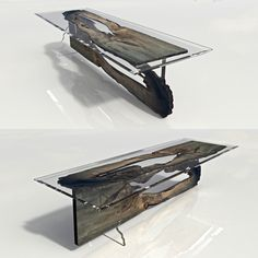 Resin Table made by riverwood.eu  Consoles Bog Oak 800-6500 years old FOR SALE office@riverwood.eu
