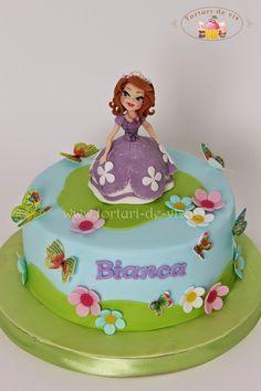 Tort cu Printesa Sofia pentru Bianca