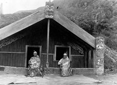Tuwharetoa i te Aupouri meeting house at Pukawa, near Waihi. Taken by an unidenti. Home History, Women In History, Once Were Warriors, Maori People, Air New Zealand, Maori Art, All In The Family, He Is Able, South Pacific
