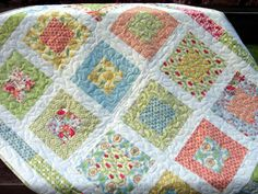 PDF Quilt Pattern, Lap or Baby size.Quick and Easy, Layer Cake or Fat Quarters, San Francisco Window Boxes Layer Cake Quilt Patterns, Layer Cake Quilts, Baby Quilt Patterns, Box Patterns, Layer Cakes, Quilting Patterns, Fat Quarter Quilt Patterns, Applique Patterns, Baby Girl Quilts