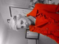Funky punk blonde short hairstyle