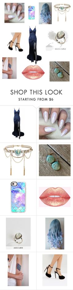 """Mermaid queen"" by bethanypettus ❤ liked on Polyvore featuring Miss Selfridge, Casetify, ASOS Curve and ASOS"