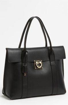 Salvatore Ferragamo 'Sookie - Medium' Leather Satchel available at #Nordstrom