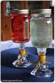 #DIY Mason jar drinking glasses, from Home Decor Expert Merri!
