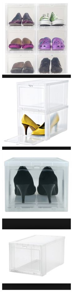 Looking for shoe storage? Check out Michaels. That's right the craft store has these great drop front shoe size storage boxes and right now they are 40% off to under $7.50 each. Much less than the organization stores!