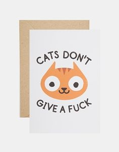 Ohh Deer Cats Don't Give a  Fuck Card
