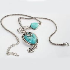 Seeing Eye Turquoise unique necklace ' is going up for auction at  7pm Wed, Dec 5 with a starting bid of $9.