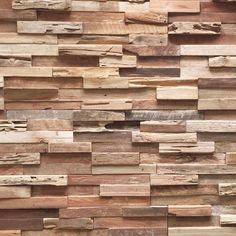 Plaquette de parement bois recyclé Ultrawood Teak Colorado marque Rebel of Styles disponibles au meilleure prix et qualité au style4walls.