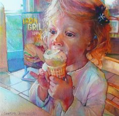 """Hannahs Treat"" watercolor by Jeannie Vodden"