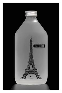 Cafe EL SUR - Paris Natural Mineral Water, Premium Brands, Vodka Bottle, Luxury, Drinks, Drinking, Beverages, Drink, Beverage