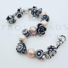 Trollbeads flowers and pearls