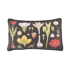 Dark Botanical Cushion available to buy direct from Sass & Belle. Charming gifts and homeware, designed with love. Sass & Belle, Deco, Soft Furnishings, Color Pop, Objects, Cushions, Illustration, Gifts, Design