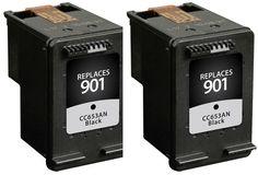 2Pcs For HP 901 Ink Cartridge 901XL For HP OfficeJet 4500 J4580 J4550 J4540 J4680 J4535 J4585 J4624 J4660 Printer #women, #men, #hats, #watches, #belts