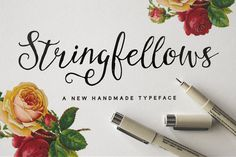 Check out Stringfellows Typeface by Nicky Laatz on Creative Market
