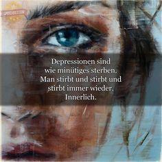 Depressionen sind  wie minütiges sterben...
