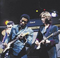 Young Buddy Guy and Eric Clapton