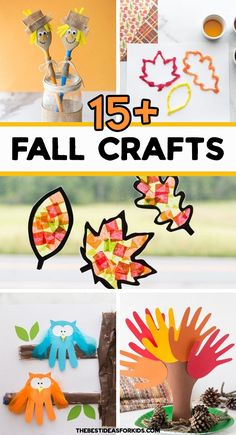 Kids Food Crafts, Fall Crafts For Kids, Craft Projects For Kids, Toddler Crafts, Holiday Crafts, Craft Ideas, Easy Crafts, Fall Preschool Activities, Art Activities