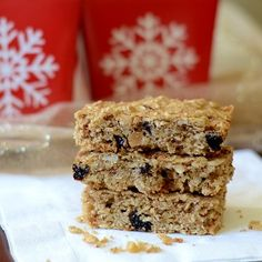 This healthy recipe for gingerbread granola bars features the flavors of gingerbread. These bars make a delicious snack or unique holiday gift.
