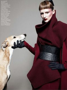 """The Terrier and Lobster: """"Best in Show"""": Dogs and Models by Daniel Jackson for UK Vogue"""