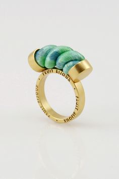 Rings – Nautical – gold ring with mint green rope. – a unique product by SzymonCiechorski on DaWanda