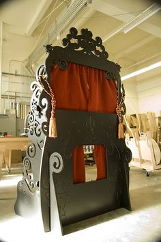 Puppet Theater. You can make your own maybe not so elaborate. But such a cute idea for kids.