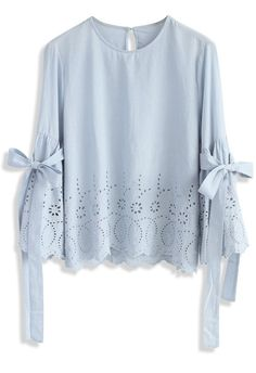 I Feel Delight Embroidered Top with Bell Sleeves - New Arrivals - Retro, Indie and Unique Fashion