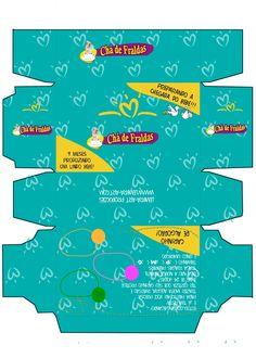 Lembra-Art Produções: Convite caixa de fraldas para imprimir Baby Boy, Diy, Baby Shower, Templates, Cool Stuff, Gohan, Silhouette, Safari, Party Ideas