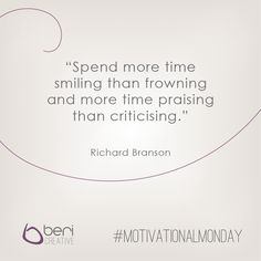 Sharing some legendary #Branson advice on this #MotivationalMonday. Try it out this week and let us know how it goes! www.bericreative.com