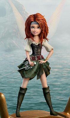 Zarina from Tinkerbell. Even Tinkerbell Pirates are awesome. Hades Disney, Walt Disney, Disney Magic, Disney Art, Merida Disney, Pirate Fairy Costume, Pirate Fairy Party, Fotos Da Tinker Bell, Disney Animation