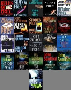 John Sandford's Prey series starring Lucas Davenport. Can't put his books down. I have read them all.