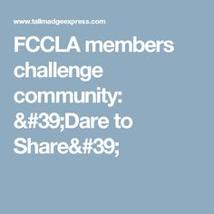 FCCLA members challenge community: 'Dare to Share'