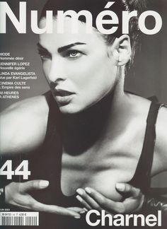 Linda Evangelista, Numero, June 2003. Photograph by Karl Lagerfeld.