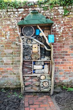 hotel building this insect hotel not only is a cute addition to the garden - it helps attract beneficial insects and bugs to help pollinate plants and keep away pests Low Maintenance Garden Design, Lawn Maintenance, Bug Hotel, Grande Hotel, Pot Jardin, Beneficial Insects, Garden Care, Amazing Gardens, Container Gardening