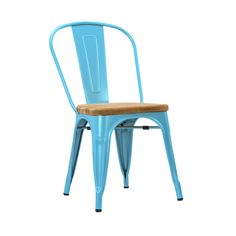 Bistro Dining Chair in Blue - Set of 2 | dotandbo.com $274