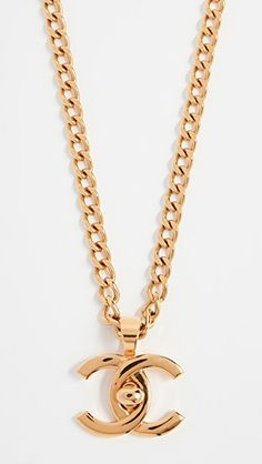 What Goes Around Comes Around Chanel Turnlock Charm Necklace (Previously Owned)