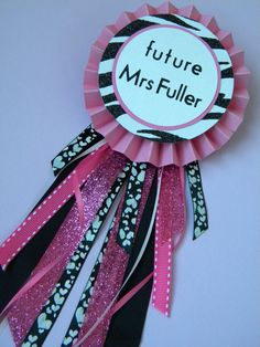 Future Mrs Show off Pins by SophiaDearwent on Etsy, fun for bachelorette party!