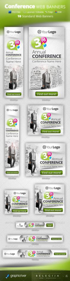 Conference Web Banners Template PSD | Buy and Download: http://graphicriver.net/item/conference-web-banners-psd-templates/5101241?WT.ac=category_thumb&WT.z_author=Belegija&ref=ksioks